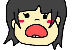 歯を見せる女の子の絵