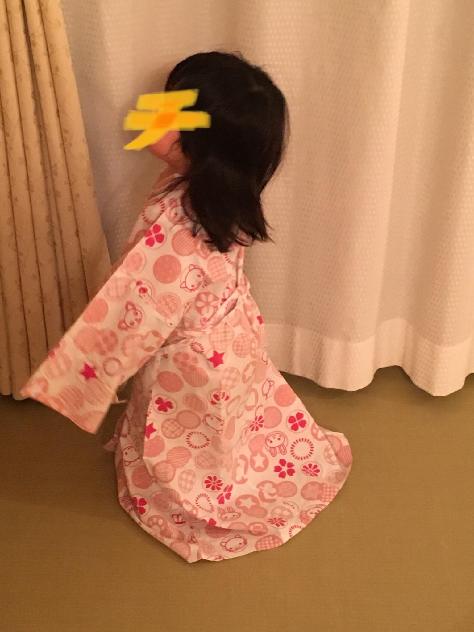 ホテルでレンタルした浴衣