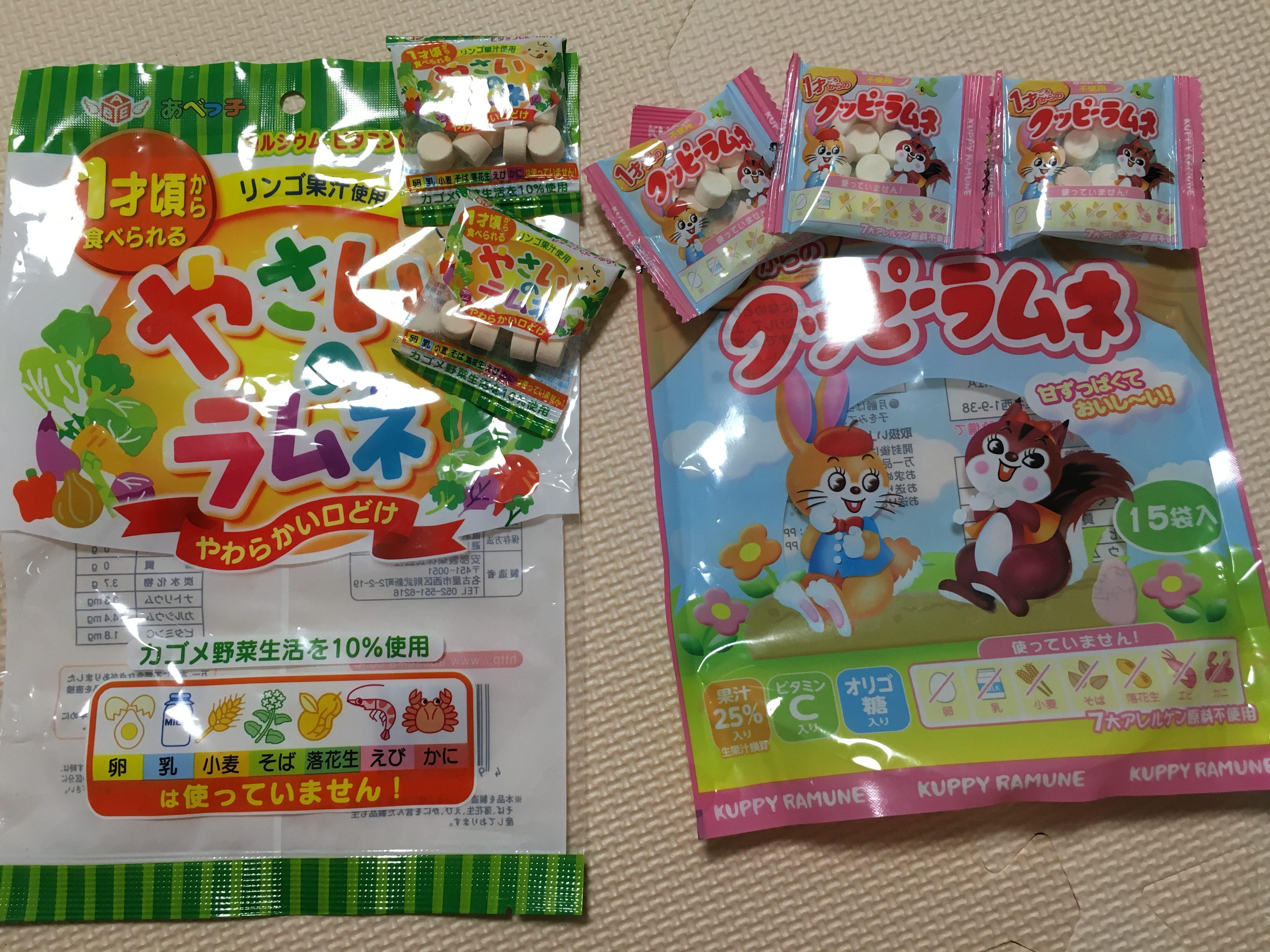 ラムネ菓子のパッケージの写真