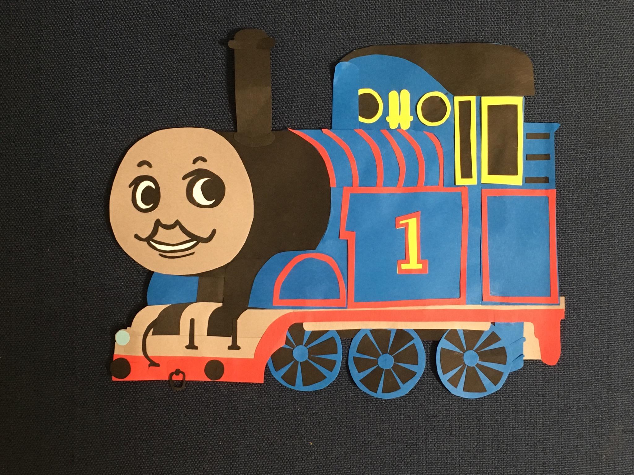 画用紙で作ったトーマス