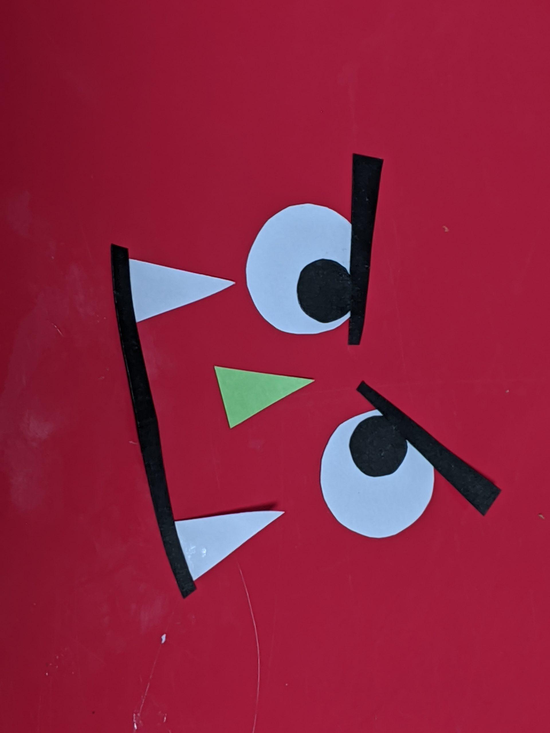 画用紙できった鬼の顔部分