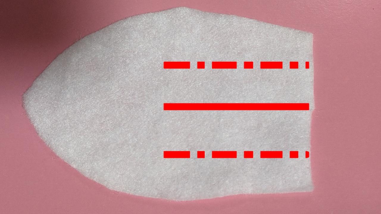 フェルト 折り線